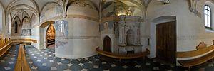 Kościół parafialny pw. Dziesięciu Tysięcy Męczenników w Niepołomicach - Panoramy (Stara zakrystia) :: Zdjęcia na mapie Targeo