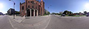 Kościół garnizonowy pw. św. Barbary, Gliwice, Dworcowa901 39 - Panoramy :: Zdjęcia na mapie Targeo