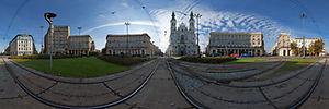 Plac Zbawiciela, Warszawa, Zbawiciela, pl.  - Panoramy :: Zdjęcia na mapie Targeo