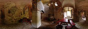 Zamek Lipowiec, Podzamcze, Babice - Panoramy (Zamkowa kuchnia) :: Zdjęcia na mapie Targeo