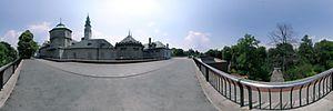 Jasna Góra, Klasztorna, Częstochowa - Panoramy (Widok na drogę krzyżową) :: Zdjęcia na mapie Targeo