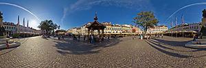 Spacer Wirtualny po Rzeszowie, Rynek 8, Rzeszów - Panoramy (Rynek) :: Zdjęcia na mapie Targeo