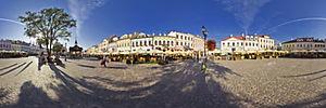 Spacer Wirtualny po Rzeszowie, Rynek 19, Rzeszów - Panoramy (Rynek za dnia - zejście na ul. Mickiewicza) :: Zdjęcia na mapie Targeo