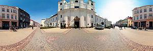 Spacer Wirtualny po Rzeszowie, 3 Maja 20, Rzeszów - Panoramy (Przed kościołem św. Krzyża) :: Zdjęcia na mapie Targeo